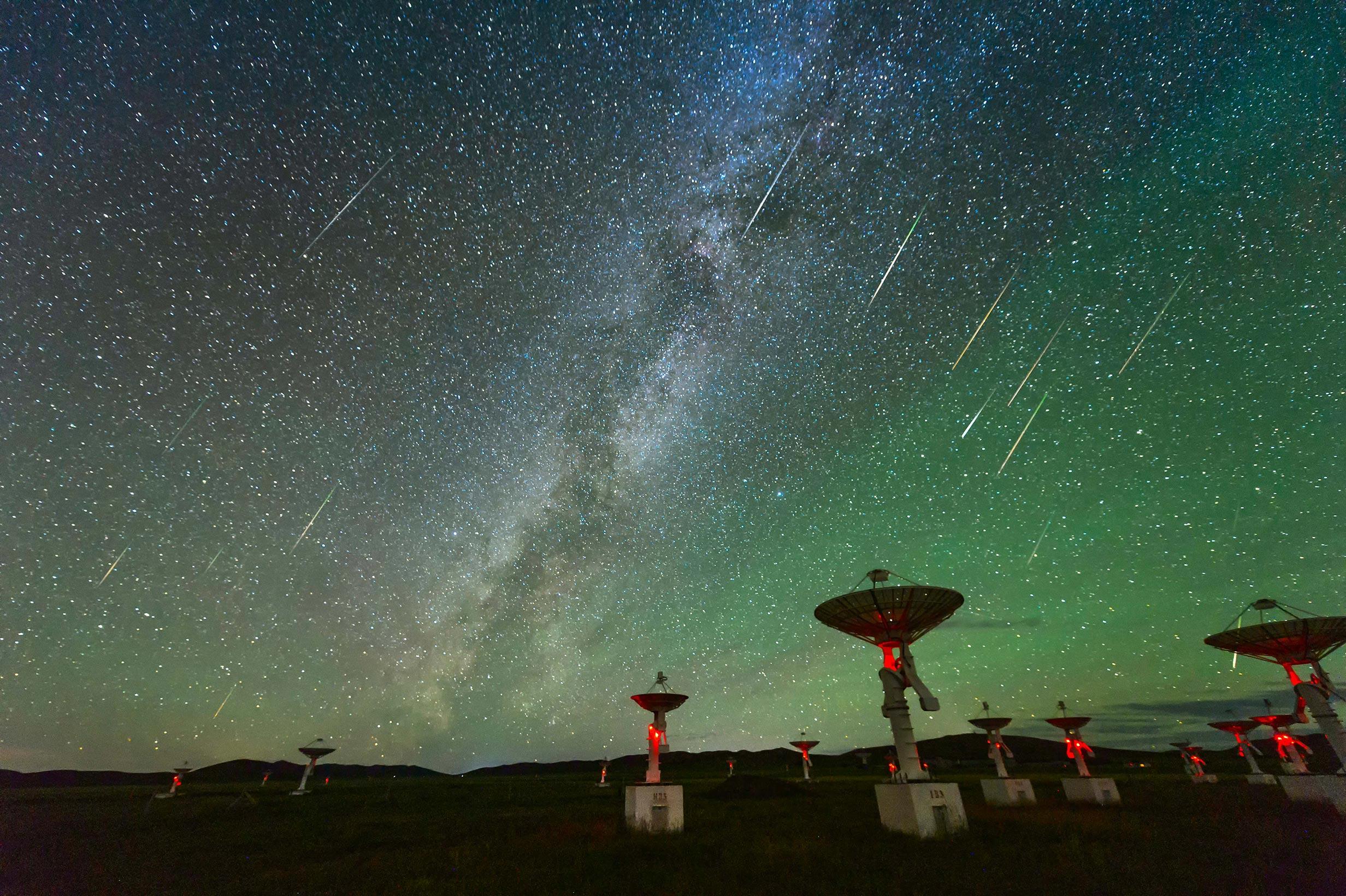 Satellites-radio waves-Milky Way-Contact-