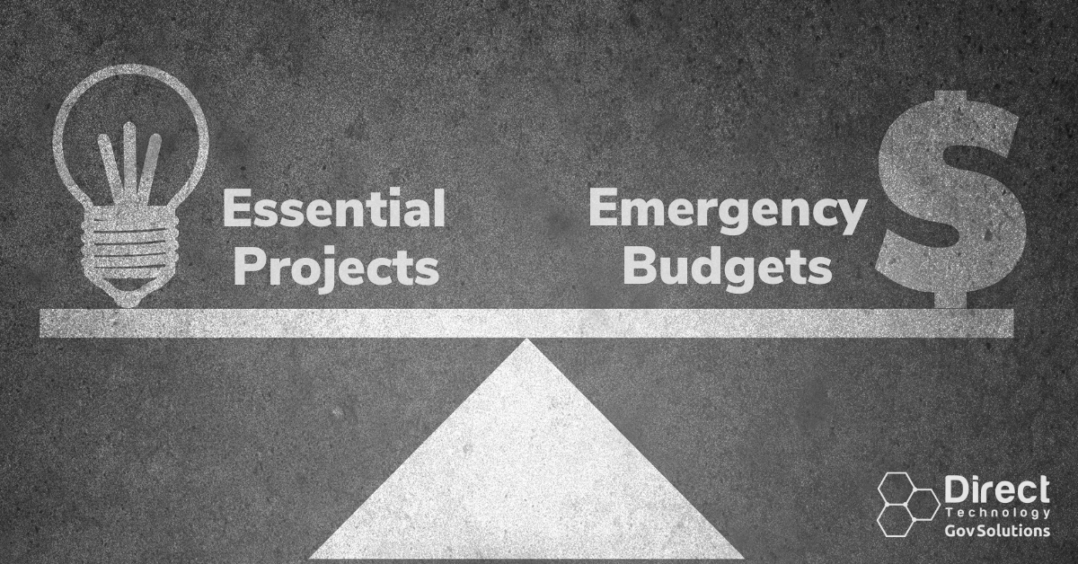 Essential Services versus Emergency Budgets Balance Graphic