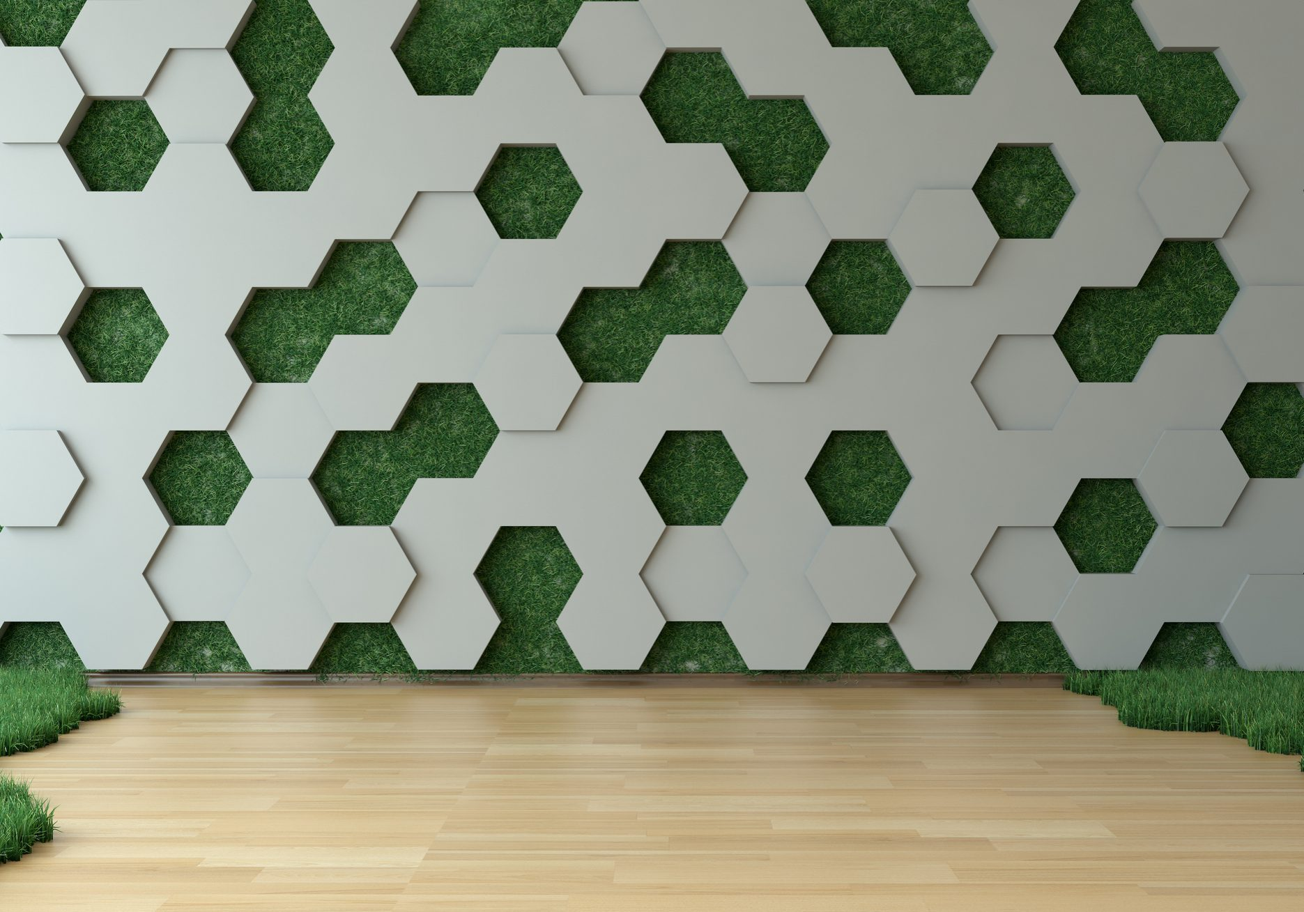 Hexagon_Wall_Green